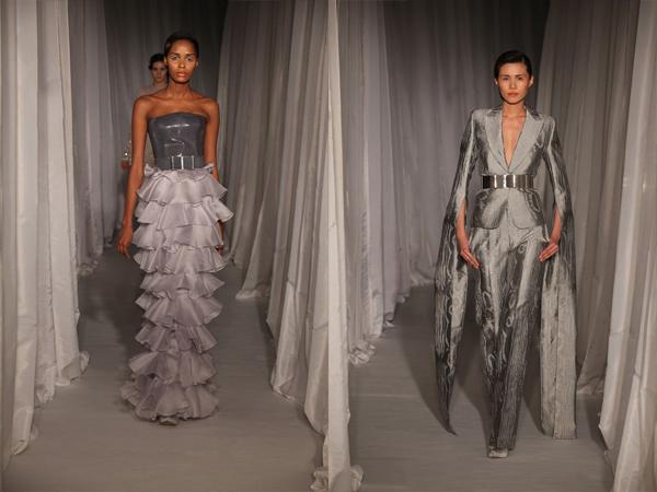 siva haljina i sivo odelo slika3 Proleće i leto na modnim pistama: Nicholas Oakwell