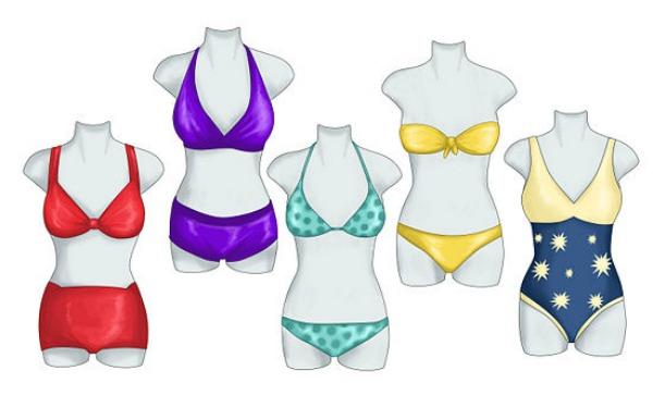 slika kroj Pravi kroj kupaćeg kostima