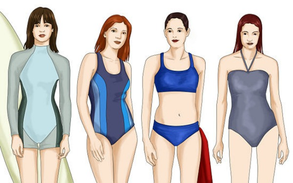 slika kupaći Pravi kroj kupaćeg kostima