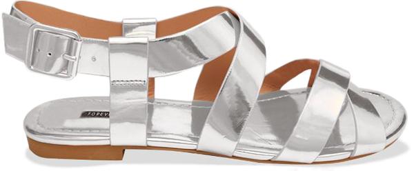 3.Srebrne ravne sandale Osam čarobnih, otmenih, srebrnih cipelica! (1. deo)