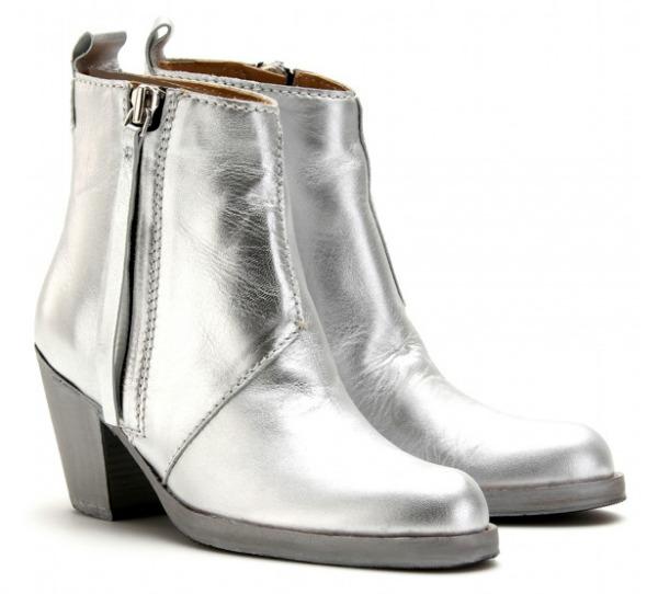 5.Čizmice do članaka u boji srebra Osam čarobnih, otmenih, srebrnih cipelica! (2. deo)