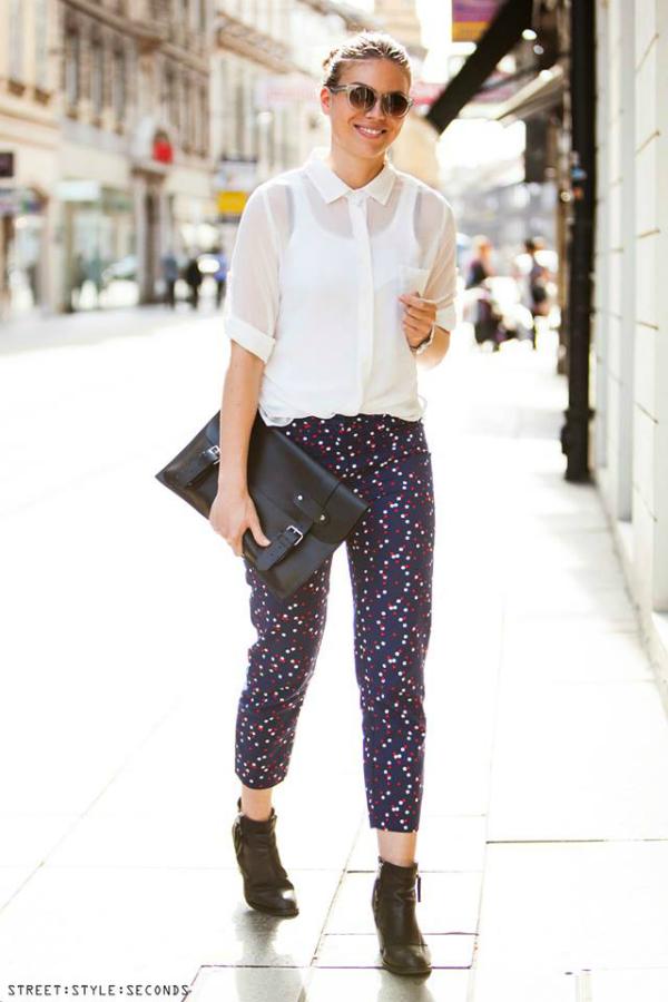 Devojka sa pundjom i ljubicastim pantalonama Street Style: Fantastično leto u Zagrebu (2. deo)