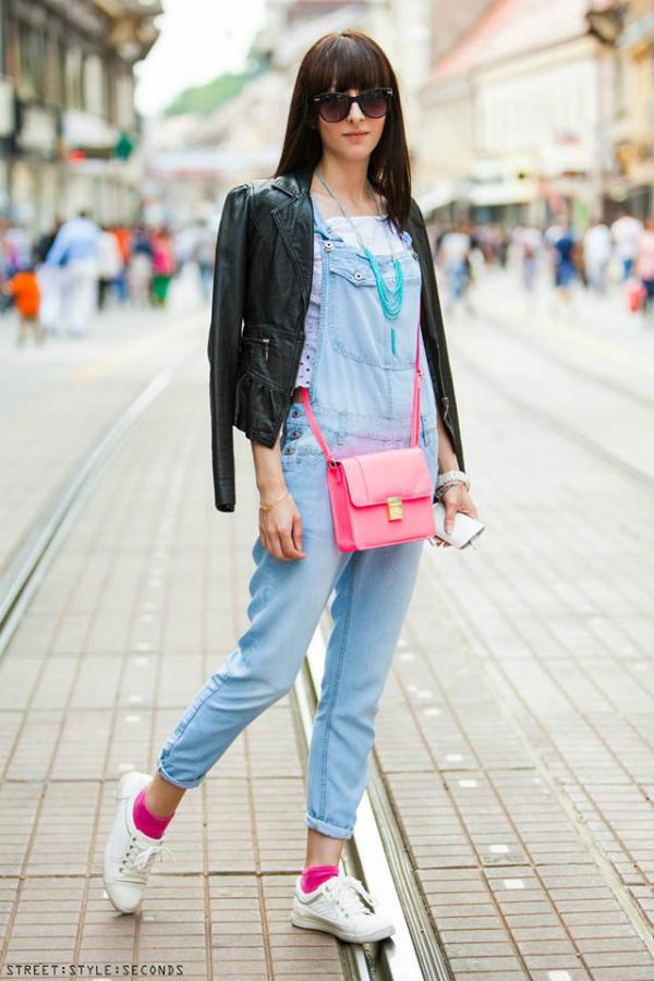 Devojka u teksas kombinezonu Street Style: Fantastično leto u Zagrebu (2. deo)