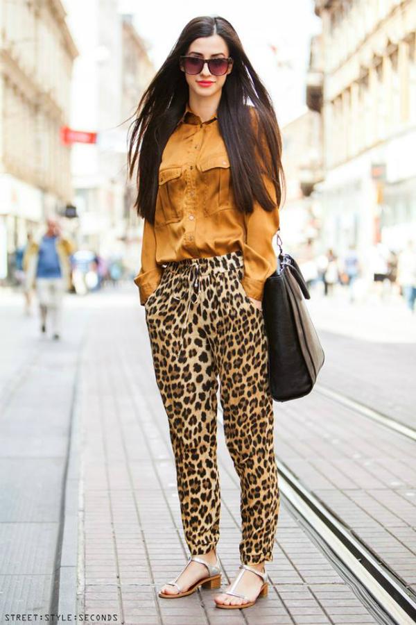 Devojka u tigrastim pantalonama Street Style: Fantastično leto u Zagrebu (1. deo)