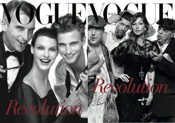 """Samo dve od šest naslovnih strana novog broja časopisa   Vogue Italia   Modni zalogaj: """"Vogue Italia"""" slavi 25 godina mode"""