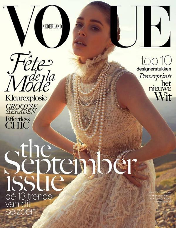 """Daucen je pravi izbor za septembarsko izdanje Modni zalogaj: Doutzen Kroes za """"Vogue Netherlands"""""""