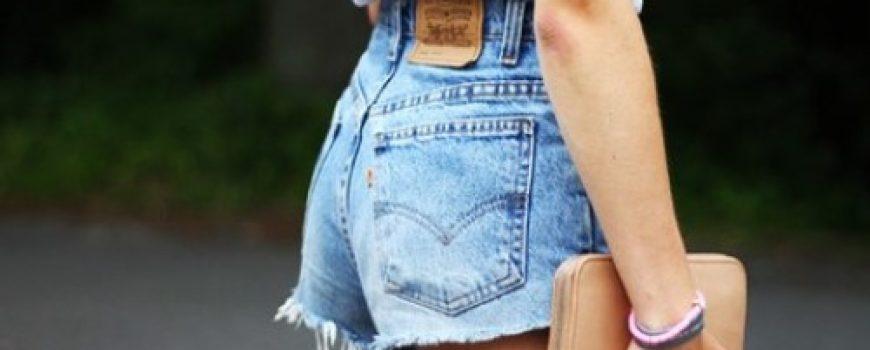 Kako da nosite teksas šorts visokog struka