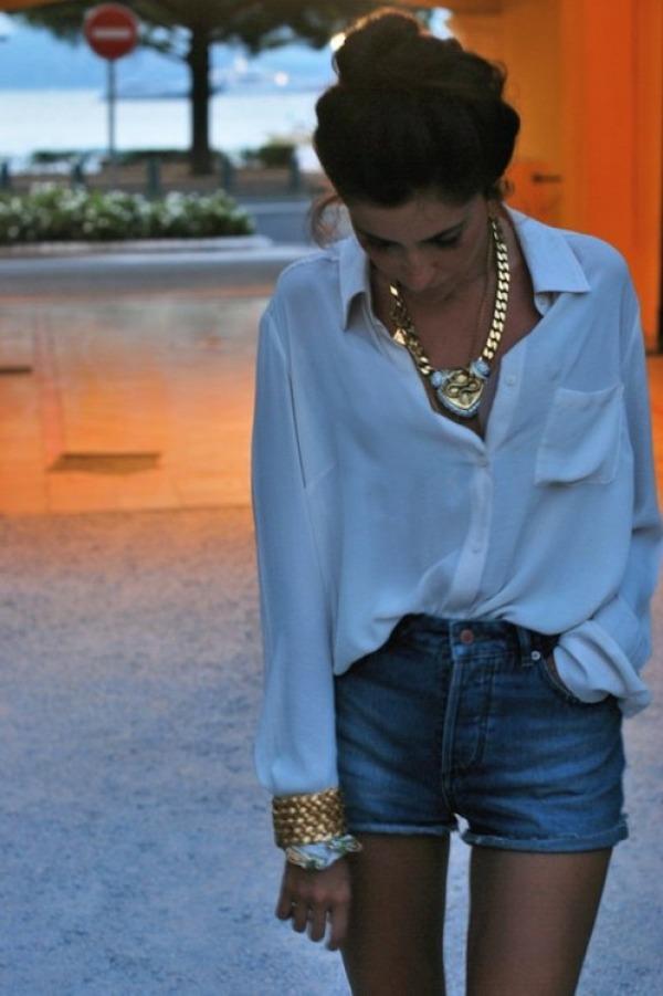Klasicna i uvijek dobra kombinacija Kako da nosite teksas šorts visokog struka