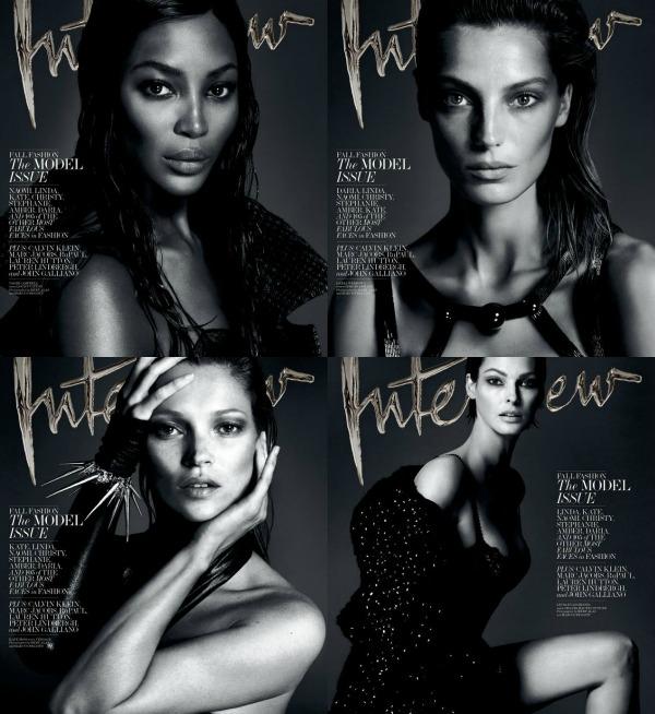 """Koja vam se naslovnica najviše dopada Modni zalogaj: Supermodeli za """"Interview"""""""
