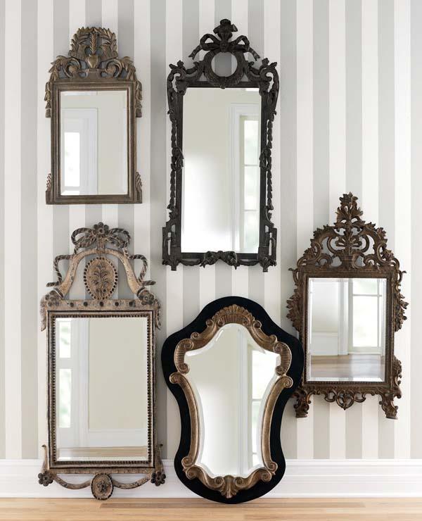 Pet starinskih ogledala na zidu Svakodnevne sitnice: Ogledala
