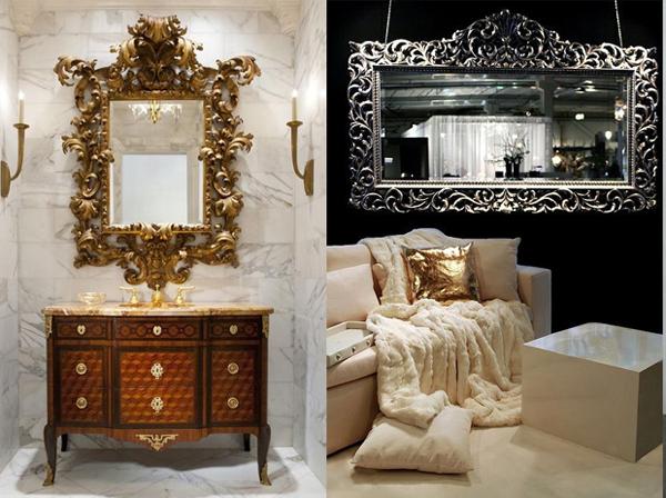 Raskosna ogledala u zlatnoj i srebrnoj nijansi Svakodnevne sitnice: Ogledala