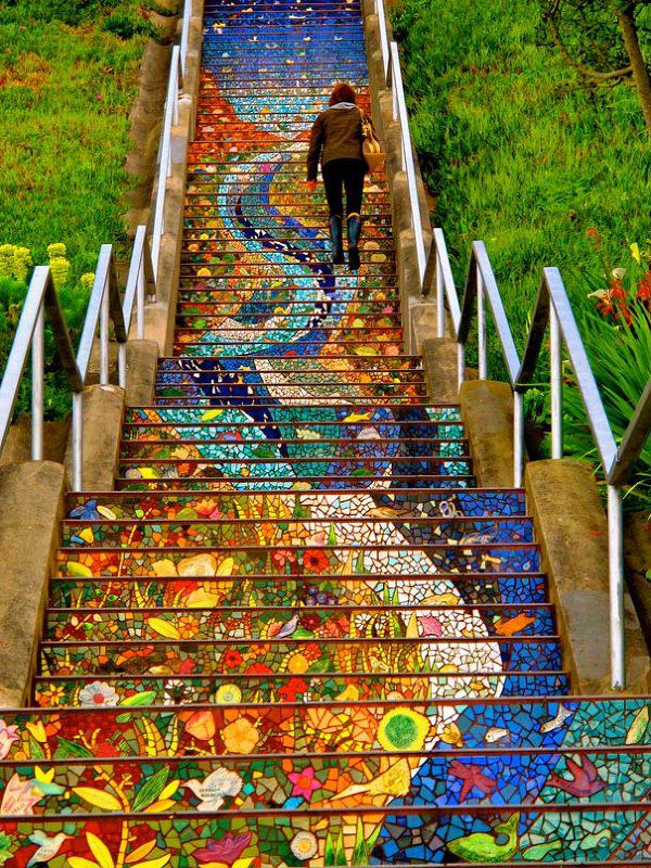 Sarene stepenice od mozaika i vitraza Najslavnije stepenice na svetu