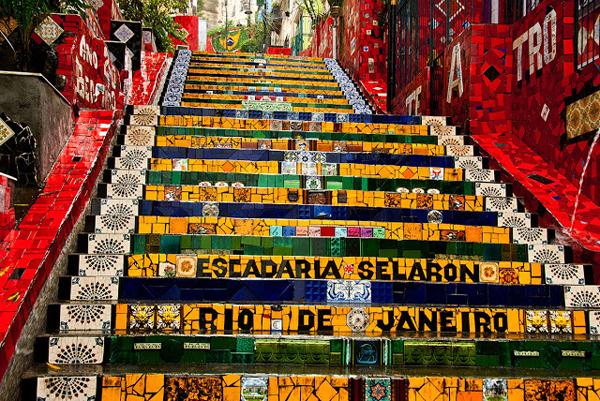 Stepenice u bojama Brazila Najslavnije stepenice na svetu