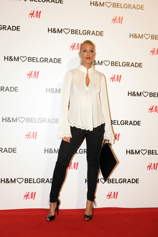 Tijana Dapcevic Žurka uoči otvaranja H&M prodavnice