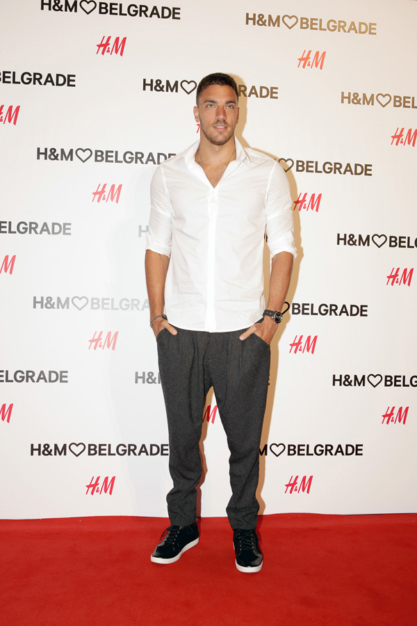 Vladimir Vuksanovic Žurka uoči otvaranja H&M prodavnice