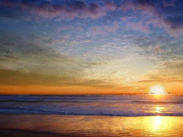 Zalazak sunca Zlatni dan