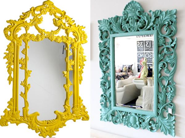 Zuto i tirkizno ogledalo Svakodnevne sitnice: Ogledala
