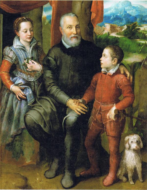 almikare anguisola sa kcerkom i sinom Sofonisba je otvorila krletku