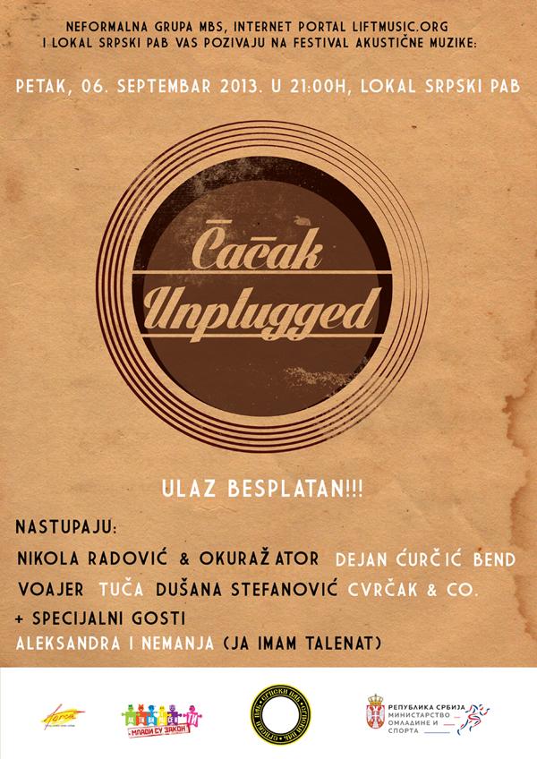 """plakat a3web Festival """"Čačak Unplugged"""""""