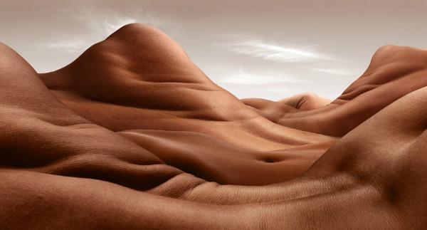 """Shoulder Hill Valley"" Bodyscapes: Gola tela pretvorena u pejzaže"