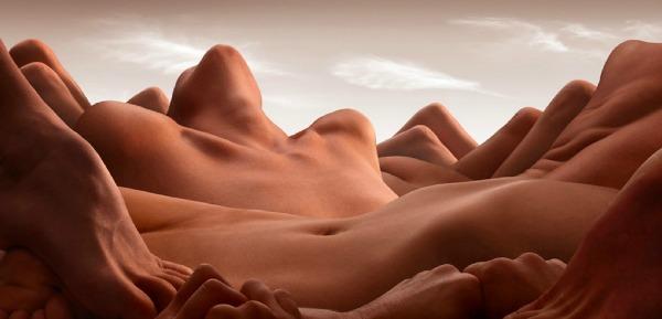 """Valley of the Reclining Woman"" Bodyscapes: Gola tela pretvorena u pejzaže"