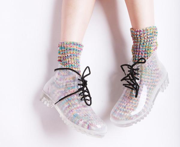 724175357 445536825 Office Shoes predlaže: Kitten prozirna gumena cipela