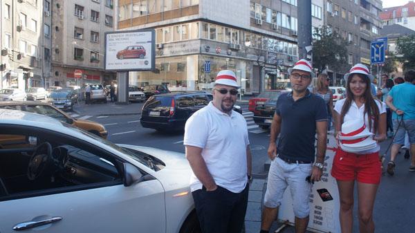 Blogeri Ivan Ćosić i Nemanja Nikolić na prvom check pointu Druženje sa Alfa Romeo Guiliettom