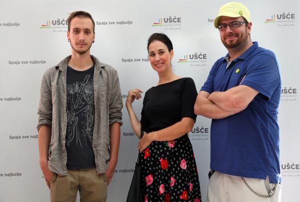 Clanovi muzicke grupe Zemlja gruva  Počinje pet nedelja dobre zabave u UŠĆE Shopping Centru
