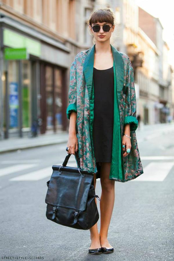 Devojka u zelenom kimonu Street Style Zagreb: Zbogom, leto! (1. deo)