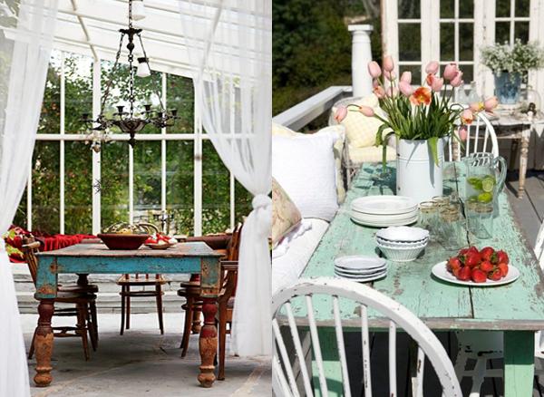 Dva stola u dvoristu Etno trpezarije: Lepota rustičnog