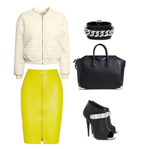 Look90 Look of the Day: Spoj bele, žute i crne