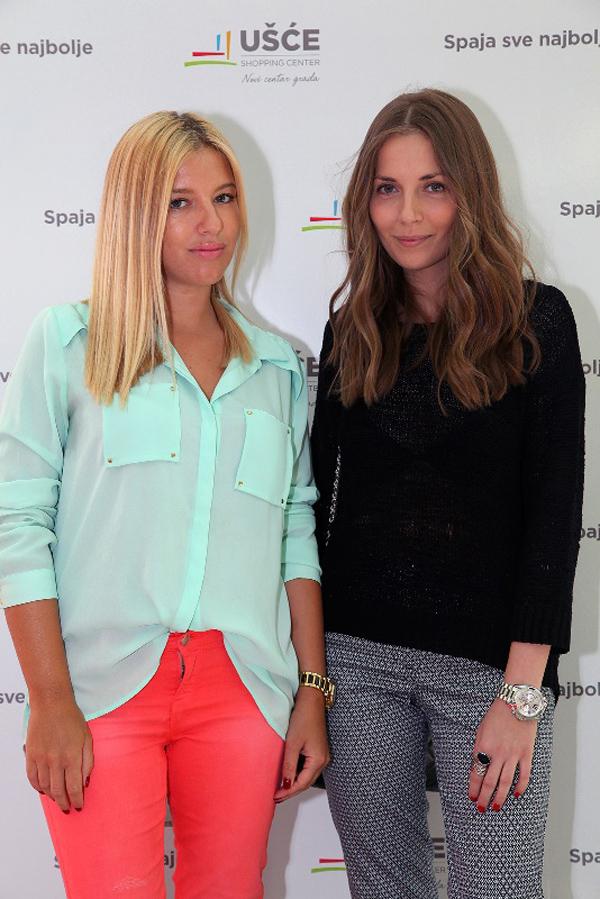 Modne blogerke Jelena Karakas i Vanja Milicevic  Počinje pet nedelja dobre zabave u UŠĆE Shopping Centru