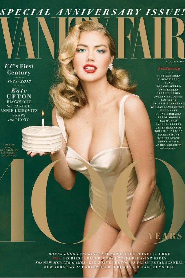 Ovo izdanje časopisa će se u prodaji naći 10. septembra Modni zalogaj: Kate Upton za stogodišnjicu časopisa Vanity Fair