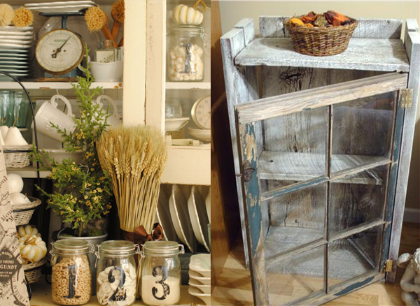Posude za zacine i prazan kredenac Etno trpezarije: Lepota rustičnog