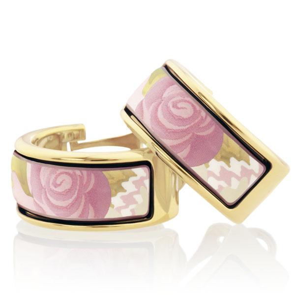 freywille ohrringe mini creole kollektion floral symphony design pepita rose pastel Freywille: Pepita Rose Pastel