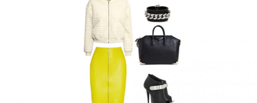 Look of the Day: Spoj bele, žute i crne