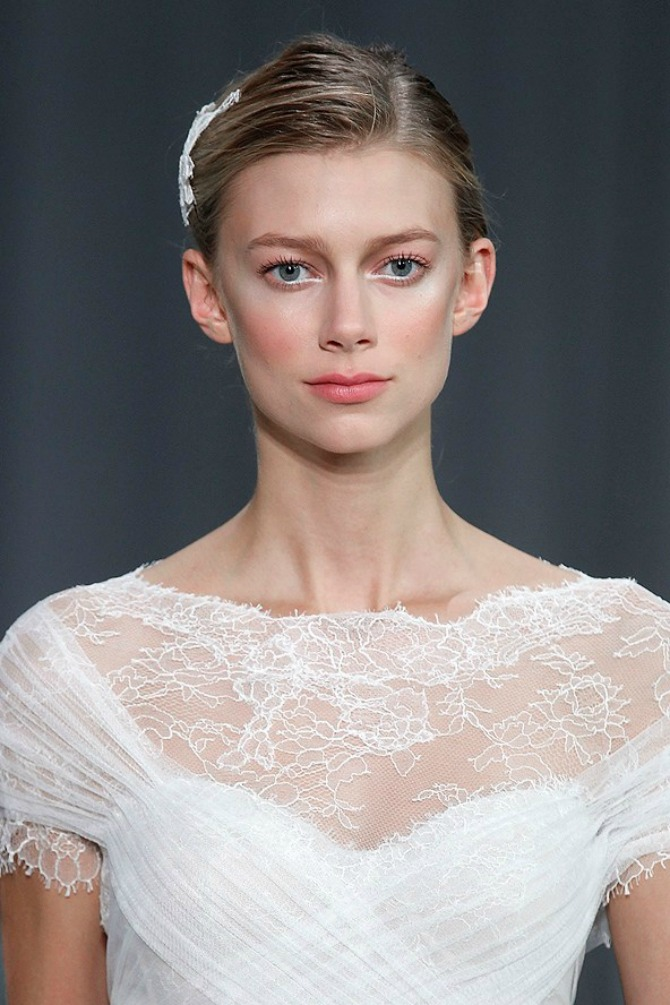 mlhullier Monique Lhuillier 2013 Bridal Collection gl 28mar13 getty b Wannabe Bride: Šminka za najlepši dan (2. deo)