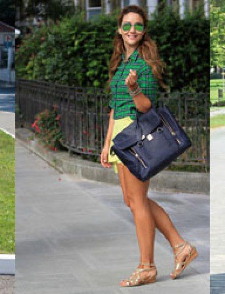 Šta modne blogerke nose ovih dana: Teksas, karirano i kraljevskoplava