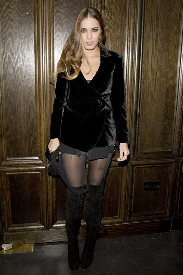 slika 10 Modni stil Amber le Bon: Spoj rokenrola i visoke mode