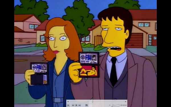 "slika 4 Xfiles simpsons Serija četvrtkom: ""The X Files"""
