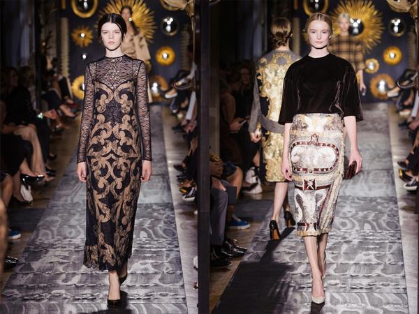 slika1 Cipkana crna haljina i haljina sa plisem Jesen na modnim pistama: Valentino