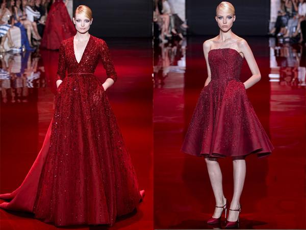 slika1 crvena maksi i crvena haljina midi Jesen na modnim pistama: Elie Saab