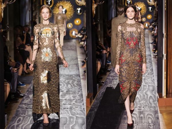 slika2 Cipkane haljine sa vezom Jesen na modnim pistama: Valentino