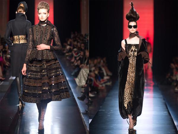 slika2 komplet u animal printu i haljina Jesen na modnim pistama: Jean Paul Gaultier