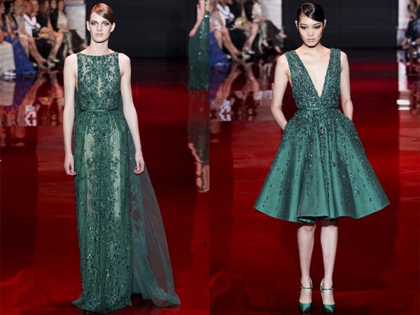 slika3 smaragndno zelene haljine Jesen na modnim pistama: Elie Saab