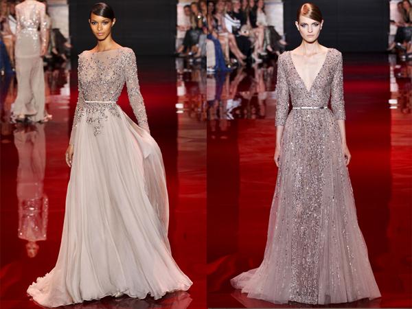 slika4 bledo sive haljine sa perlicama Jesen na modnim pistama: Elie Saab