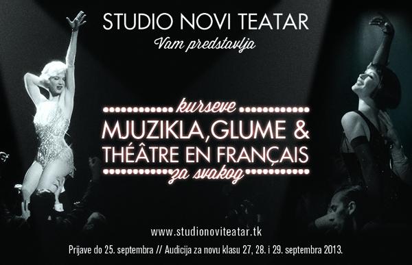 studio print Studio Novi teatar upisuje novu generaciju studenata
