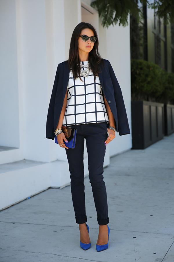 vivaluxury fashion 3 Šta modne blogerke nose ovih dana: Teksas, karirano i kraljevskoplava