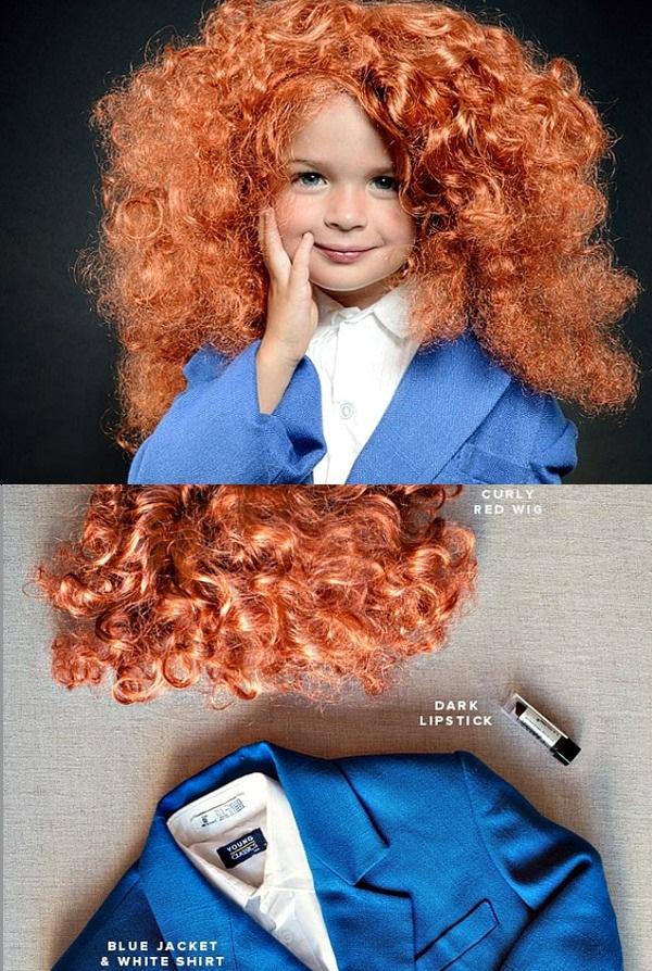02 Mala Grejs Kodington + kostim Deca u kostimima modnih stručnjaka za Noć veštica