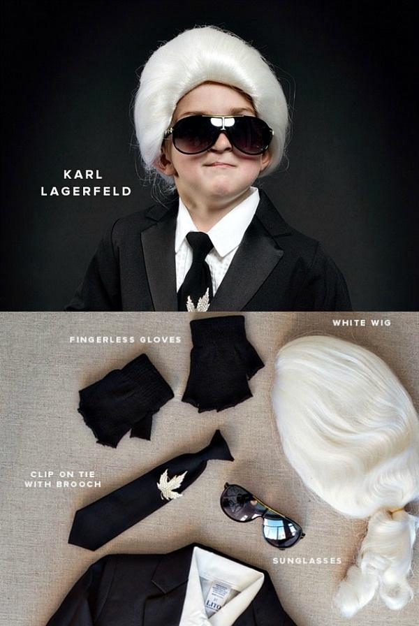 05 Mali Karl Lagerfeld + kostim Deca u kostimima modnih stručnjaka za Noć veštica